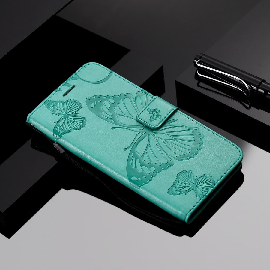 Butterfly Wallet For Xiaomi Redmi 6 6A Cover Redmi6 TPU Holder For Xiomi Redmi S2 5 Plus Case Butterfly Flip Leather Redmi6A