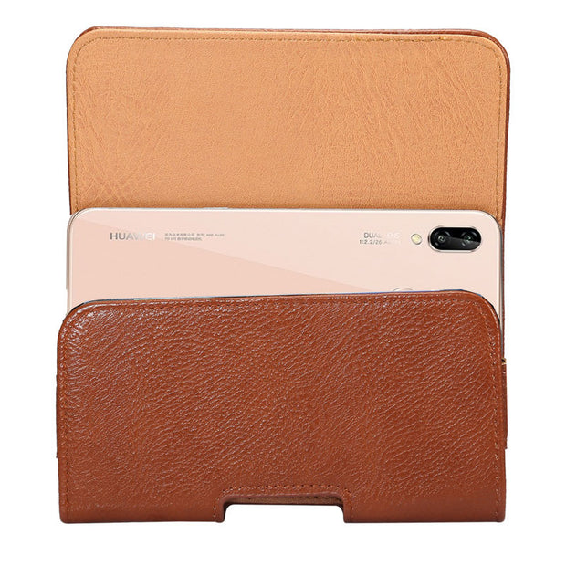 CHEZVOUS PU Leather Belt Clip Pouch Cover Case For Huawei P20 Pro Phone Bag Case Waist Bags For Huawei P20 Lite (nova 3e)