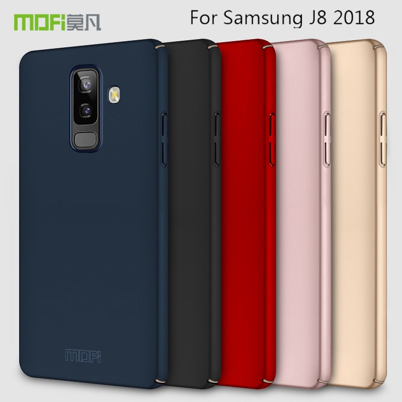 Case For Samsung Galaxy J8 2018 MOFi Brand Luxury 360 Full Body Cases Hard Frosted PC Back Cover For Galaxy J8 2018 6.0""