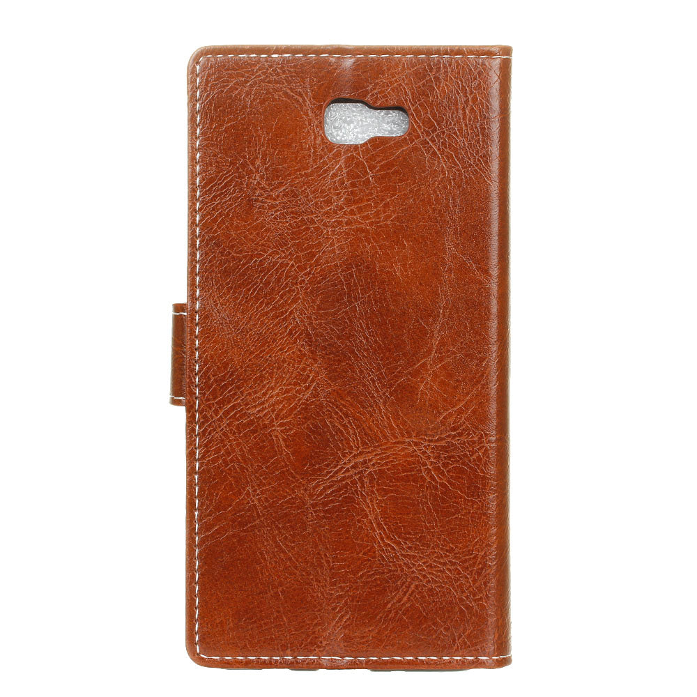 Casteel Crazy Horse Series Luxury High Quality PU Leather Case For Samsung Galaxy J4 Core J410G Cover Shield Case