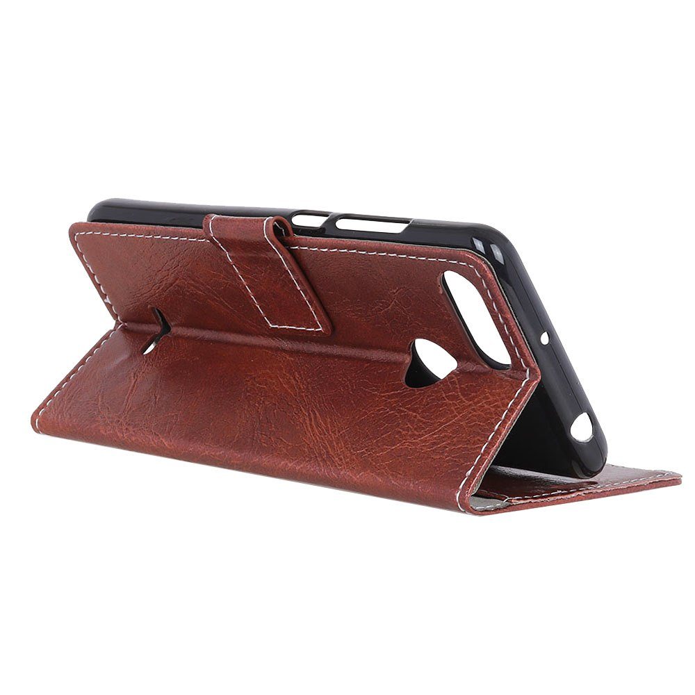 Casteel Crazy Horse Series Luxury High Quality PU Leather Case For Xiaomi Redmi 6 Redmi6 Cover Shield Case