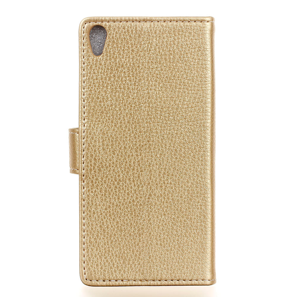 Casteel Litchi Series Luxury High Quality PU Leather Case For Vodafone Smart E9 Cover Shield Case