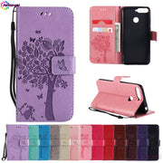 "Coque For Huawei Honor 7C AUM-L41 Honor7C 5.7"" Wallet Flip Phone PU Leather Case Cover For Huawei Honor C7 7 C AUM L41 Bag Capa"