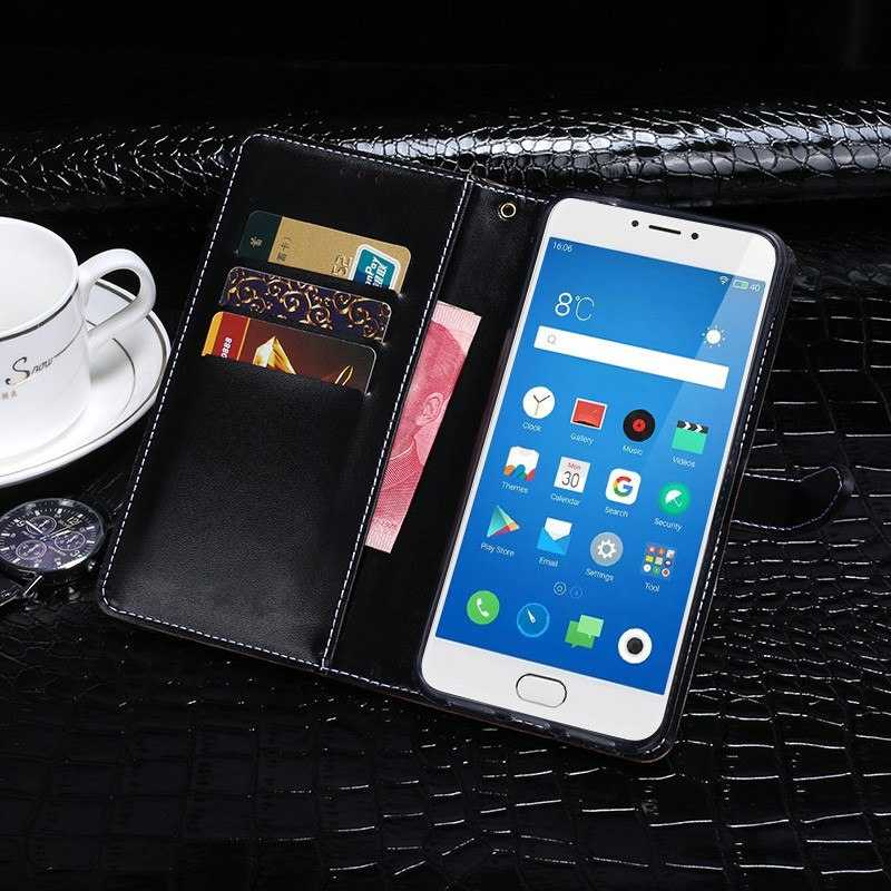 Crocodile Patter Wallet Flip PU Leather Case For Meizu M3 Note Case 5.5 Inch Phone Cover For Meizu M3 Note M681Q Phone Cover