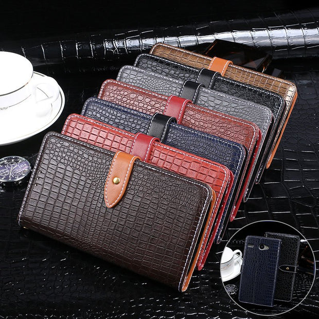 Crocodile Patter Wallet Flip PU Leather Case Cover For Micromax Juice Q3551 4.5 Inch Phone Case For Micromax Juice Q3551 Cases