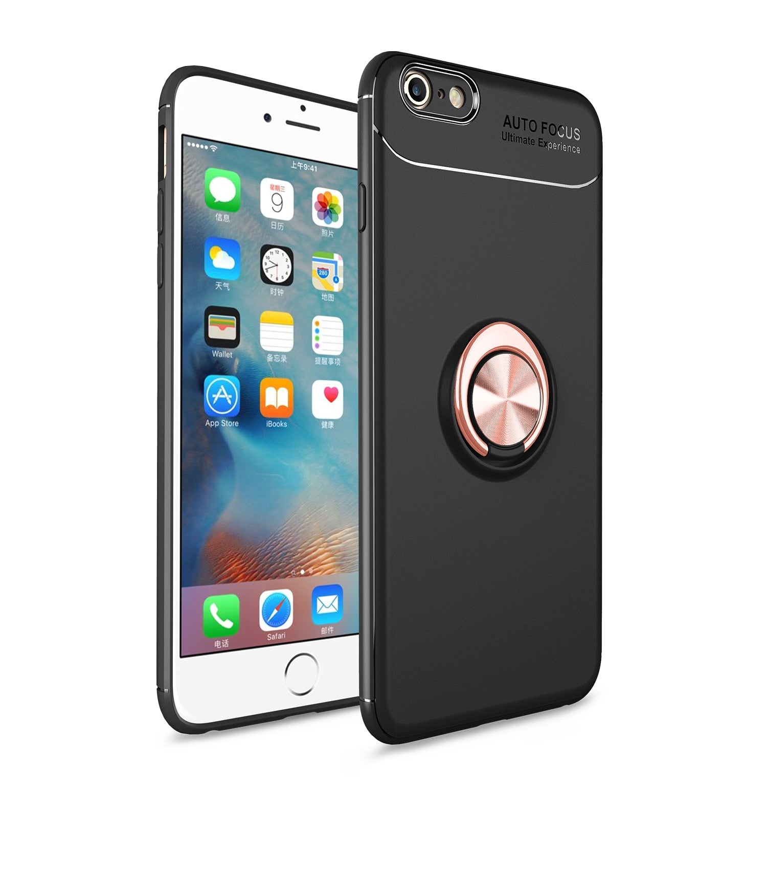 finest selection 97c2a f90ce DWAYBOX Case For Apple IPhone 6s Plus 6 Plus TPU Soft Protective Back Cover  Metal Finger Ring With Attract Magnetic Car Holder