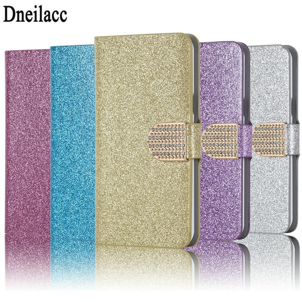 Dneilacc Luxury New Hot Sale Fashion Sparkling Case For Huawei Honor 8X  Cover Flip Book Wallet Design