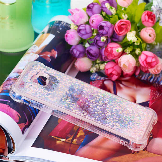 Dynamic Liquid Glitter Quicksand Case For Samsung Galaxy 2018 J4 Plus EU/J4 Prime/J4 Plus Coque Silicone Soft TPU Phone Capa