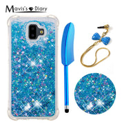 Dynamic Liquid Glitter Quicksand Case For Samsung Galaxy 2018 J6+EU/J6 Prime/J6 Plus Soft TPU Cover For Galaxy J6 Plus
