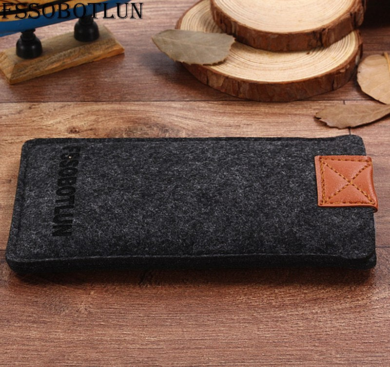 "FSSOBOTLUN,2 Styles,For Alcatel Idol 4 6055K 5.2"" Phone Case Pocket Cover Sleeve Pouch Handmade Wool Felt Protective Case Bag"