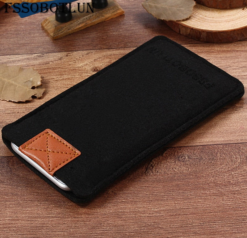 FSSOBOTLUN,2 Styles,For Amazon Fire Phone Case Pocket Cover Sleeve Pouch Handmade Wool Felt Protective Case Bag