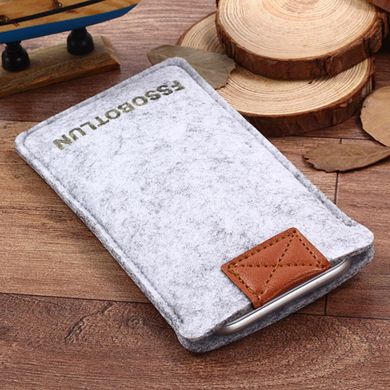 "FSSOBOTLUN,2 Styles,For Coolpad Modena 2 5.5"" Case Pocket Phone Case Cover Handmade Wool Felt Protective Sleeve Pouch Bag"