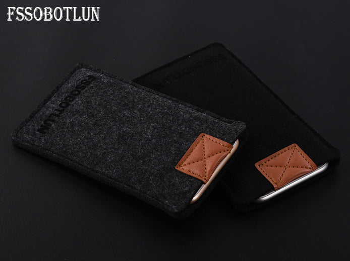 FSSOBOTLUN,3 Colors,For Sony Xperia XA Ultra Pocket Case Handmade Wool Felt Sleeve Bag Protector Pouch HandBag Phone Case