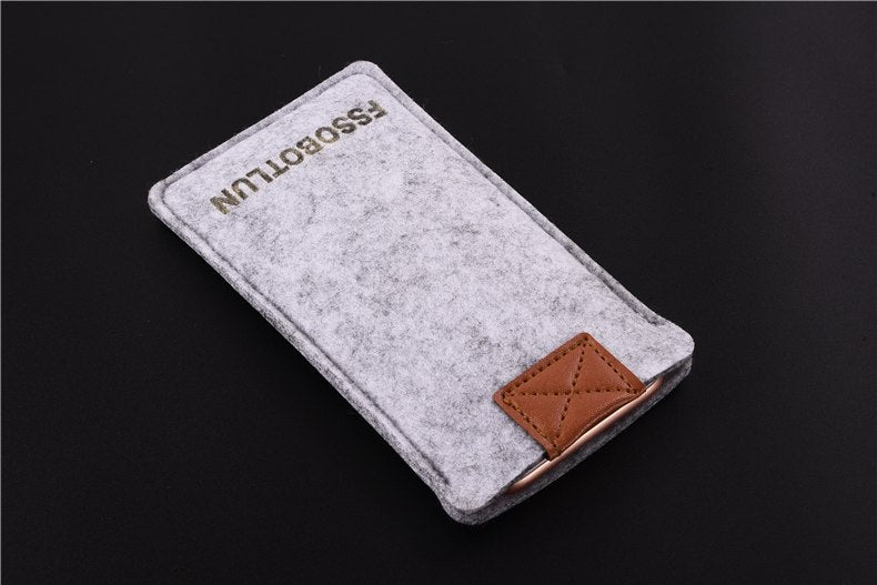 FSSOBOTLUN,3Colors,For Huawei Honor 6A Pocket Case Bag Protector Pouch Protective Cover Handmade Wool Felt Sleeve