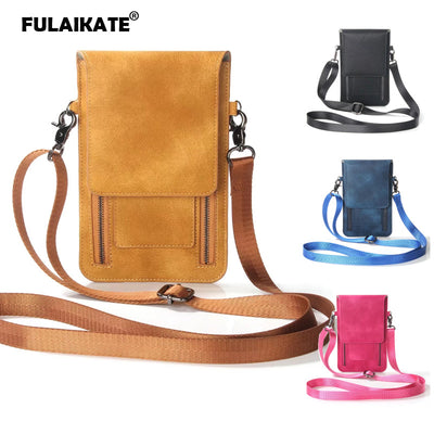 FULAIKATE Universal Shoulder Bag For IPhone XR 7 8 Plus Card Pocket Waist Case For Samsung Galaxy S9Plus MEGA 6.3 Note5 Pouch