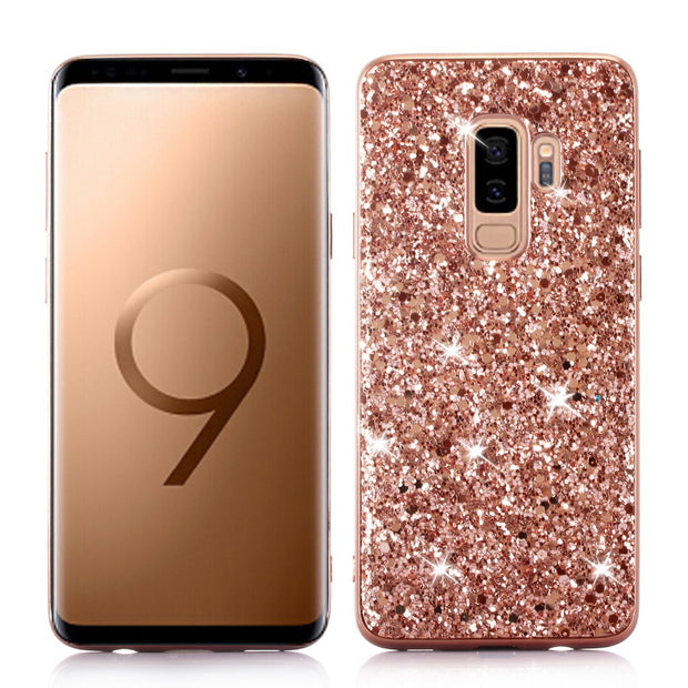 Fashion Bling Glitter Cute Phone Back Case Cover For Samsung Galaxy S9 S9 PLUS