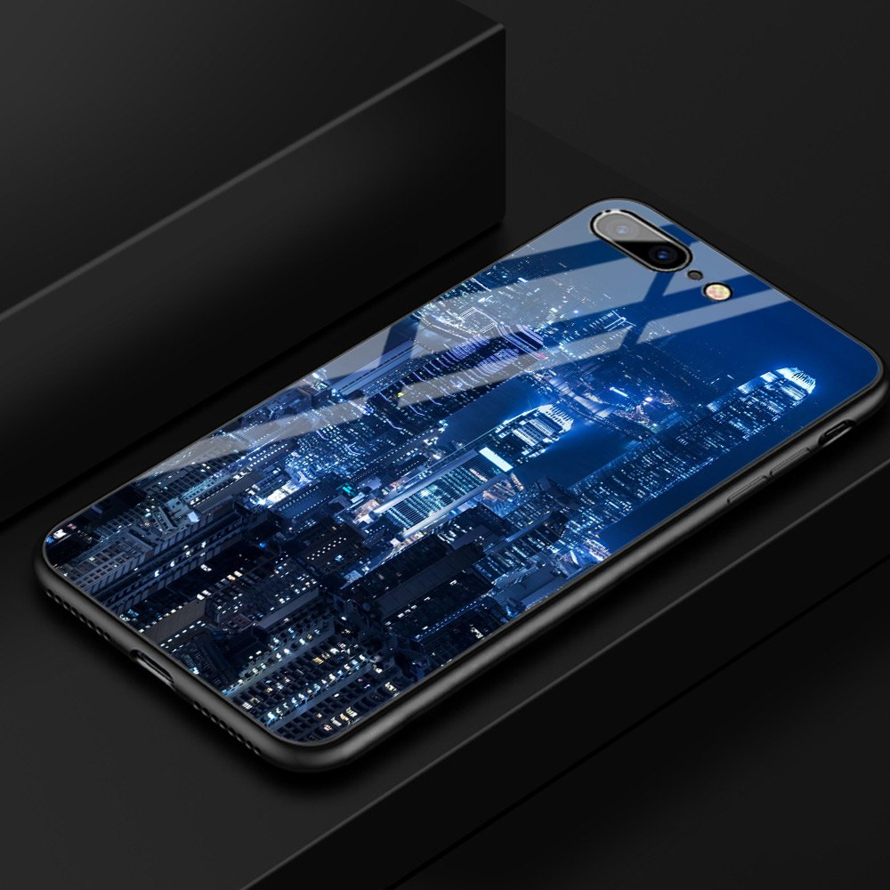 FinderCase For IPhone XR Case Hard Back Tempered Glass Victoria Harbour Night View Case For IPhone 6 6S Plus 7 Plus X XS MAX