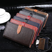 For Alcatel A3 Case Crocodile PU Leather Cases Cover For Alcatel A3 Luxury Flip Business Style Wallet Case 5.0 Inch