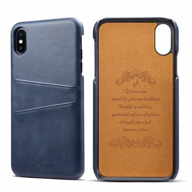 For Apple IPhone X XS Max Case Luxury Brand Leather With Card Cases Mobile Phone Shell Coque For IPhone XR Fitted Cases