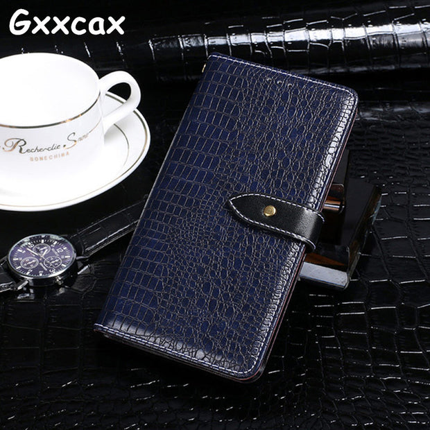 For Asus ZenFone Live L1 ZA550KL Leather Case Flip Crocodile Leather Wallet Case For Coque Asus ZA550KL Protect Back Cover