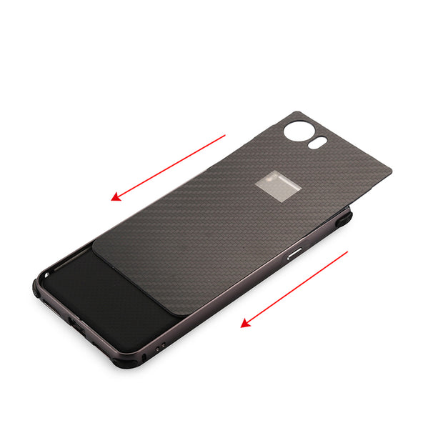 For Blackberry KEY One Case Aluminum Metal Frame+Carbon Fiber Hard Back Cover Case For Blackberry KEY Two Shockproof Phone Shell