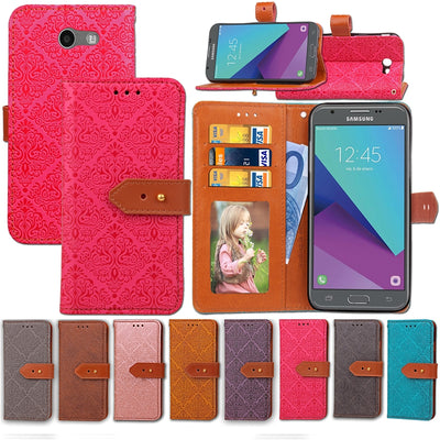 For Coque Samsung Galaxy J3 2017 Case Cover Luxury Leather Phone Case For Samsung Galaxy J3 2017 / J3 Emerge Etui Funda Carcasas