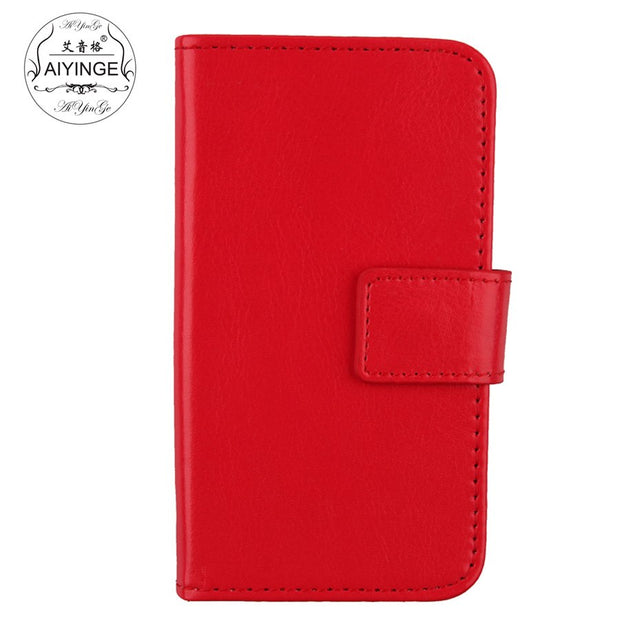 "For Doogee S55 / S55 Lite 5.5"" Case Solid Color Flip Leather Wallet Mobile Phone Cover For Doogee S55 / S55 Lite Holster"