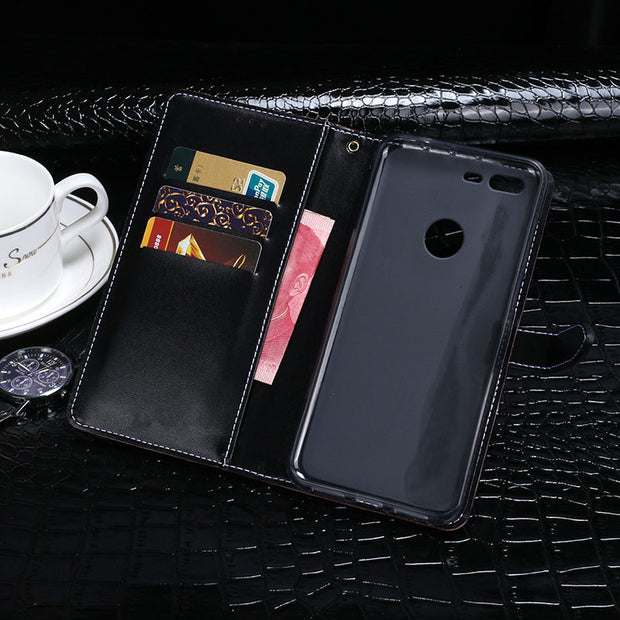"For Google Pixel XL Case Luxury Crocodile Skin Flip PU Wallet Leather Cases For Google Pixel XL Cover 5.5"" Business Phone Bags"