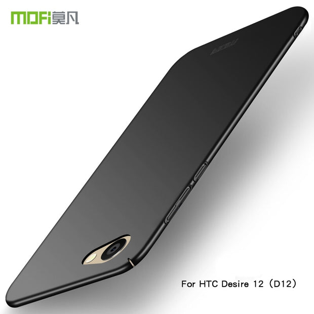 "For HTC Desire 12 D12 5.5"" Case Cover Hard Protection Black Capas MOFi Original For HTC Desire 12 D12 Back Cover Case"