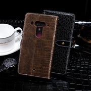 For HTC U12 Plus Case 6.0 Inch Cover Crocodile Skin Flip Leather Case For Coque HTC U12+ Plus Cover Capa Business Phone Bags