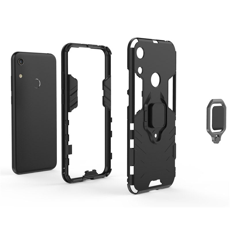meet 37a84 88b94 For Huawei Honor Play 8A Case Cover TPU Hard PC Case Ring Holder Stand  Magnetic Armor Case For Huawei Honor Play 8A