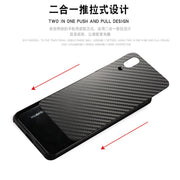For Huawei P20 Case Aluminum Metal Frame Bumper Carbon Fiber Hard PC Cover Case For Huawei P20 Compact Shockproof Capa Fundas