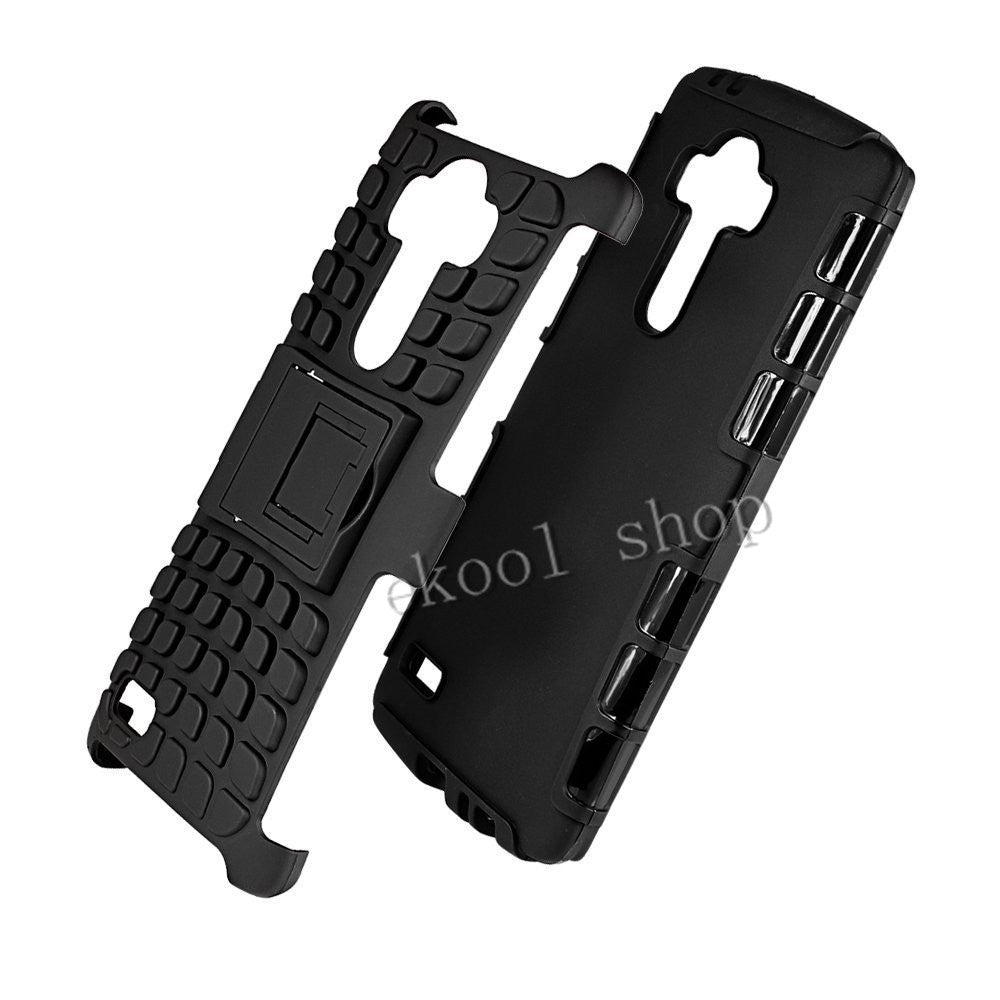 For LG G2/G3/G4 Case TPU & PC Dual Armor Cover With Stand Holder Hard Silicone Armor Cover Shock Case