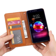 "For LG K10 2018 Case Cover Flip Card Slot Magnetic Wallet Back Cover 5.3"" For LG K11 PU Leather Silicone Protective Phone Case"