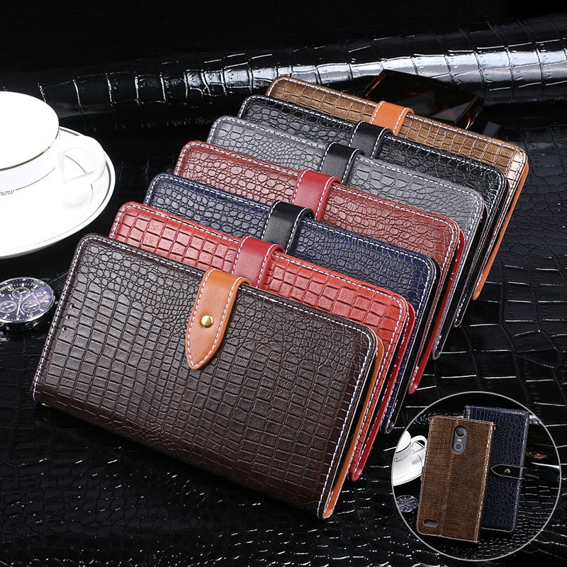 For LG Stylo 3 Case Luxury Crocodile Skin Flip PU Wallet Leather Case For LG Stylo 3 Cover 5.7 Inch Business Phone Bags