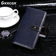 For Lenovo Z5 Case Crocodile PU Leather Cases Cover For Lenovo Z5 L78011 6.2 Inch Luxury Flip Business Style Wallet Case