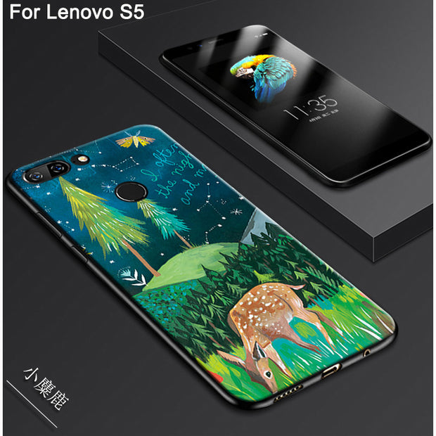 "For Lenovo S5 Case 5.7"" Cute Cartoon Painting Soft Back Cover For Lenovo S 5 Phone Cases For Lenovos5"
