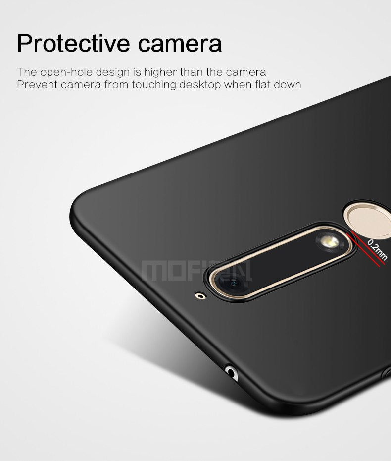 For Nokia 6 Six 2018 Cover Case Original MOFI Hard Case Hight Quality Phone Shell For Nokia 6 Ll 5.5''