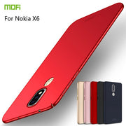 For Nokia X6 2018 Case MOFI PC Hard Back Cover Protection MOFi For Nokia X6 Phone Cases Cover