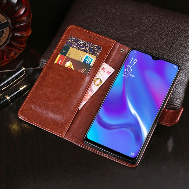best website 4e24c 4568d For OPPO AX7 Pro Case OPPO AX7 Case PU Leather Back Cover Phone Case For  OPPO AX7 Pro AX7Pro CPH1893 CPH1901 Case Flip Coque Bag