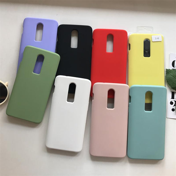 For Oneplus 6 Back Case Cover For One Plus 6 Soft Liquid Silicon Phone Case Full Protective 1+6 Phone Shockproof Cases