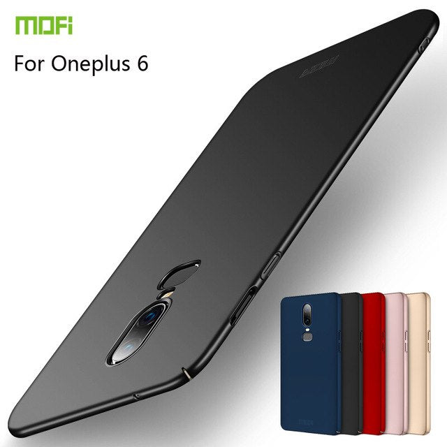 For Oneplus 6 Case Oneplus 6 Case Cover Silicone Mofi Ultra Thin Back Black Protect Oneplus 6 Case