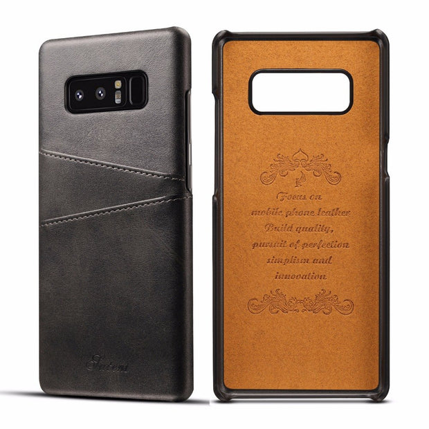 For Samsung Galaxy Note 8 Case Luxury Leather With Card Cases Galaxy Note8 Fitted Cases Mobile Phone Shell Back Cover Note 8