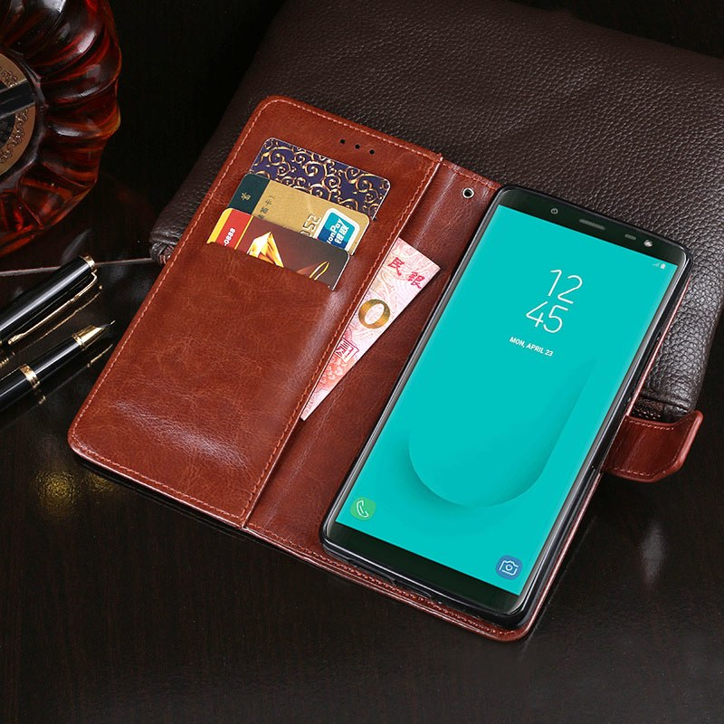 "For Samsung Galaxy On6 Case 5.6"" Business Style Wallet Leather Flip Phone Fundas Cover For Samsung Galaxy On6 Case Accessories"
