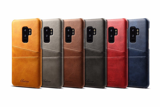 For Samsung Galaxy S9 Plus Case Luxury Leather With Card Cases Galaxy S9 Fitted Cases Mobile Phone Shell Back Cover S9 Plus