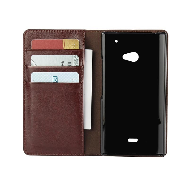 For Sharp AQUOS CRYSTAL Y2 403SH Real Genuine Leather Wallet Flip Cover Phone Case For Aquos CrystalY2 403sh With Card Slot Capa