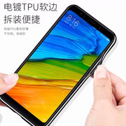 For Xiaomi Redmi 5 Plus Case Soft Silicone Edge+ Hard Tempered Glass Bluelight Protective Back Cover Case For Xiaomi Redmi 5Plus