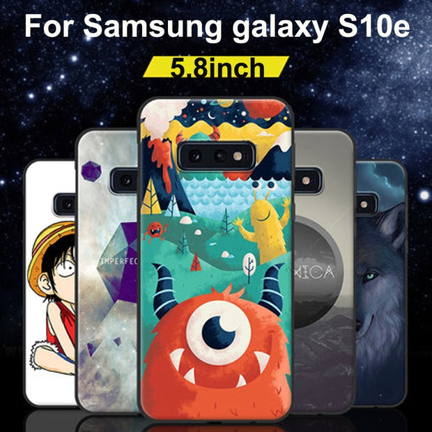 For Galaxy S10 E Case S10e Cartoon Soft Silicone TPU Phone Cases For Samsung Galaxy S10e Cover S 10e Protective Shell Back Cover