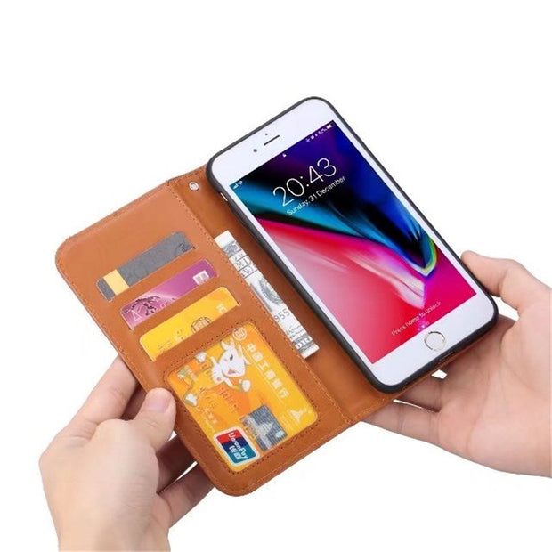 For IPhone 6S 7 8 Plus Case Cover Luxury Flip Wallet Card Slot PU Leather Phone Case For IPhone 6Plus Magnetic Protective Shield