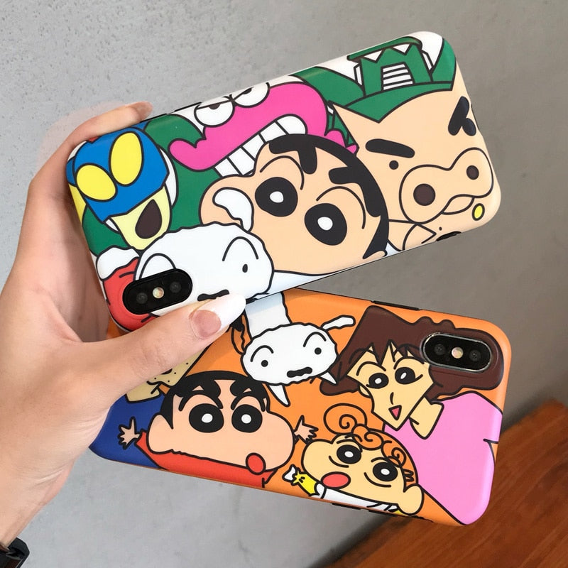 For IPhone X Cartoon Nowara Shnnosuke Case, Snow White Princess Back Cover For IPhone 8plus 8 7 7plus 6 6S 6Splus + Stand Holder